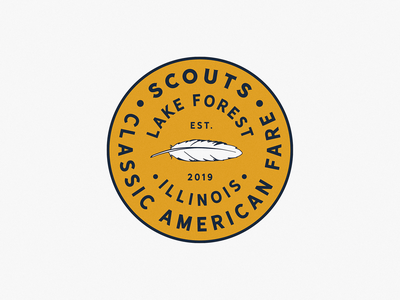 Scouts grain circle circular illustration badge design badge vintage badge vintage logo vintage