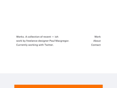 Works minimal freelance folio ux ui portfolio