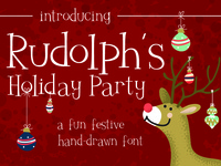 Rudolph's Holiday Party Font