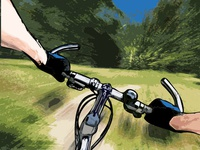 Bicycle tour poster illustration