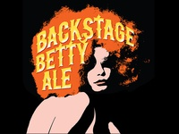 """""""Backstage Betty"""" beer label"""