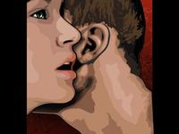 Secret whisper illustration