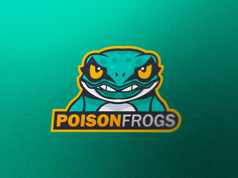 Frog Mascot Logo frog logo brand esports logo esports mascot logo poison frog