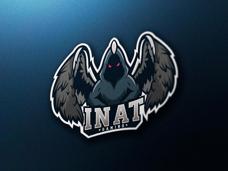Inat Mascot Logo identity brand logo esports. mascot mascot logo esports logo demon angel