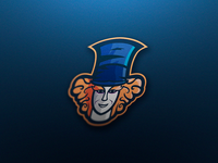 Mad hatter Mascot Logo