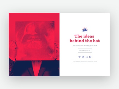 2018 | Redesign for my website hat symbol space vador darkvador starwars print web 2.0 userinterface web branding graphic logo illustration typography cover design ui