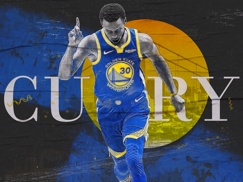 NBA Poster Series: Steph Curry graphic design nba art giannis durant westbrook harden lebron stephen curry gsw nba poster hoops curry sports basketball golden state warriors nba steph curry