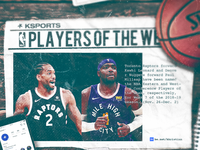 NBA Players of the Week: Kawhi Leonard + Paul Millsap