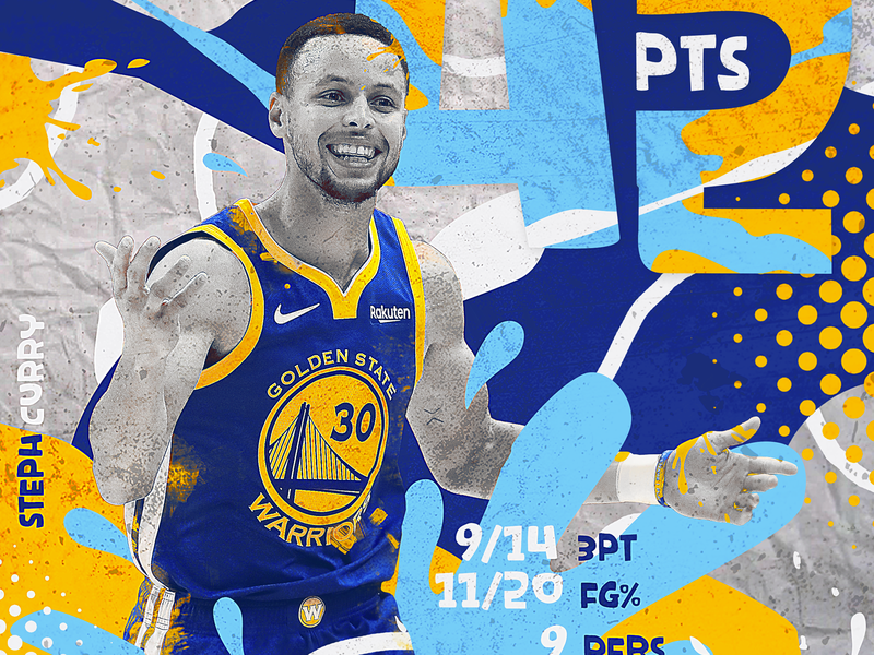 NBA Poster Series: Steph Curry klay durant creative poster graphic design golden state warriors steph curry hoops photo manipulation photoshop curry sports design sports poster nba poster lebron behance nba sports basketball