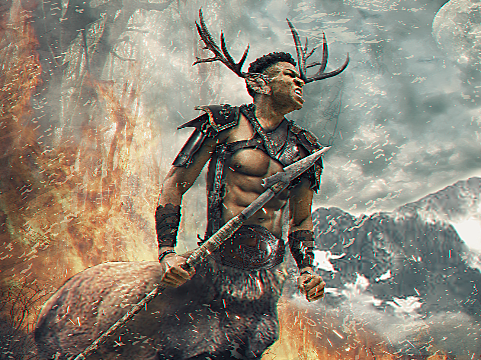 Fear the Deer | Giannis Antetokounmpo curry lebron fantasy poster design design graphic design hoops behance nba poster photo manipulation sports poster photoshop basketball sports sports design nba fear the deer greek freak milwaukee bucks giannis antetokounmpo