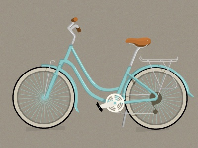Blue Bike retro illustration vector bike cycle