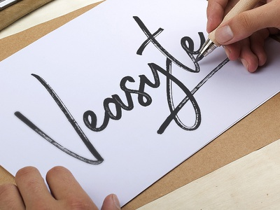Identity for Veasyte - event agency drawing hand branding identity lettering logo