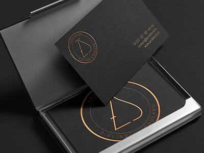Logotype Architecte busines card lettering black badge logo zs architect gold identity logo