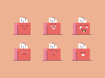 Tissues cute vector illustration flat happy character expression faces characters tissue