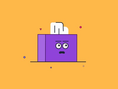 Tissues Oh No hustle face scared character line art minimal flat illustration box tissue