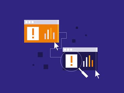 Remote Desktop Support design minimal illustration flat support error browser cursor tech support computer remote