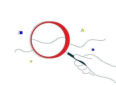 Desktop Analytics design hustle minimal flat geometric abstract shapes hand drawn line art graph chart hand magnify