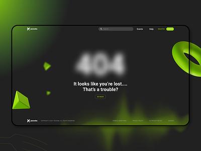 404 Yacooba 2021 design minimal go back product design illustration ux ui design web design web 404 error page 404 error 404 page 404