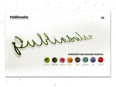 PUBLINSULAR white website vegetal publinsular outdoor minimal green ecodesign brand agency