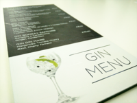 SAVOY HOTEL | Gin Menu
