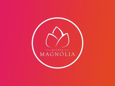 QUINTA MAGNÓLIA gradient magnolia symbol typography minimal graphicdesign branding design pauloferreiradesigner brand logo quinta quinta magnólia