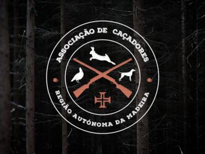 ASSOCIAÇÃO DE CAÇADORES oldschool weapon bird icon brand design graphicdesign bunny logo vintage florest hood dog branding vintagelogo pauloferreiradesigner caçadoreslogo associaçãodecaçadores hunters hunterslogo