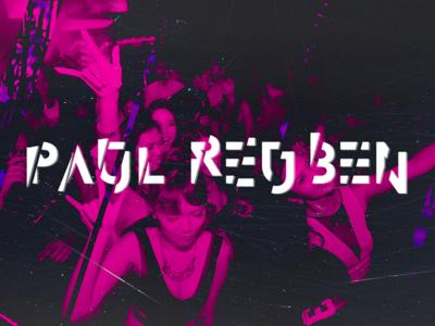 DJ PAUL REUBEN   Redesign design djs djlogo partylogo glitch minimal graphicdesign brand branding logo pauloferreiradesigner paulreuben djpaulreuben
