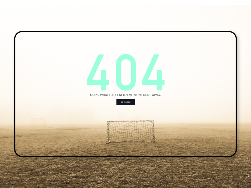ATHLEAD   Website - 404 Error Page ux uiuxdesign 404 page 404 error page athlead fotball soccer typography branding graphicdesign design webdesign minimal 404page webpage page pauloferreiradesigner derpauloferreira 404 error 404