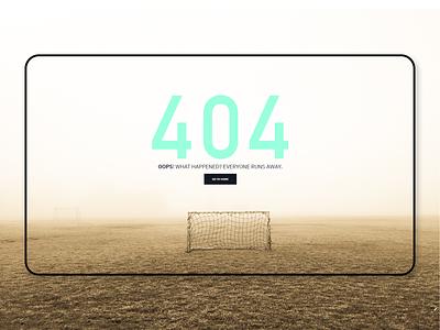 ATHLEAD | Website - 404 Error Page ux uiuxdesign 404 page 404 error page athlead fotball soccer typography branding graphicdesign design webdesign minimal 404page webpage page pauloferreiradesigner derpauloferreira 404 error 404