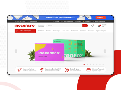 INOCENTRO | e-commerce packaging madeiraisland blue white red minimal pauloferreiradesigner ux ui webdesign derpauloferreira e-commerce inocentro