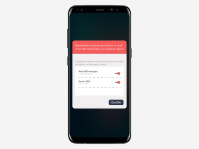 SMS popup ui