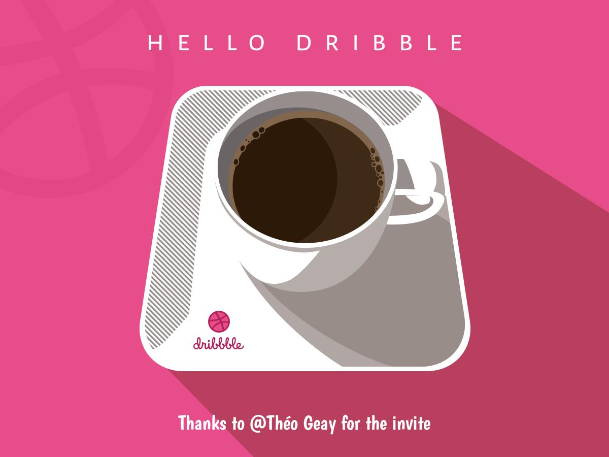 Hello Dribble dribbble hello