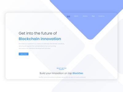 Blockchain website Landing Page