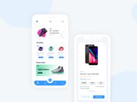 Ecommerce app concept