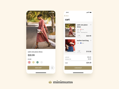 daily UI #058 - Shopping Cart gold cart photo shopping app shopping shopping cart ecommerce app design daily ui ui daily