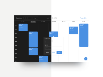 Simple Calendar Manager App | Lightmode or Darkmode?