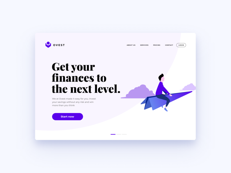 Investing Landing Page Design #02 | Banking Illustration ux design ui design web web page vector figma sketch desktop mobile freebie digital ui ux illustration banking finances dashboard landing website app