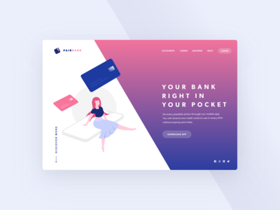 Beautiful Neobank Landing | Banking Illustration
