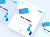 iPad Pro Travel Card Landing Page | Banking Illustration
