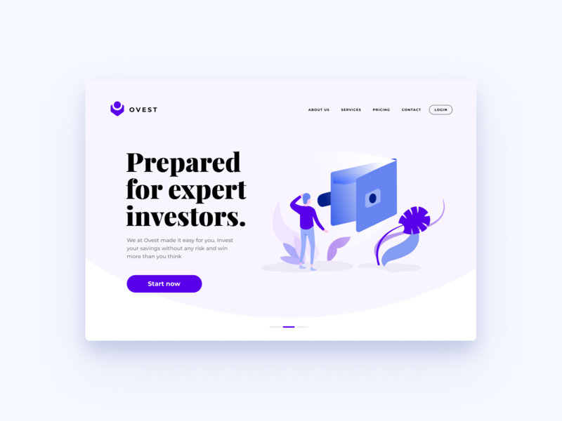 Investing Landing Page Design #03 | Banking Illustration ux design ui design web web page vector figma sketch desktop mobile freebie digital ui ux illustration banking finances dashboard landing website app