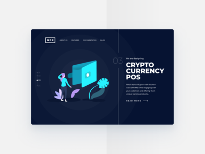 Futuristic Cryptocurrency Landing | Banking Illustration