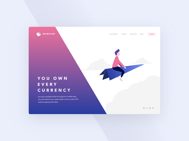 Beautiful Neobank Landing #02 | Banking Illustration ux design ui design web web page vector figma sketch desktop mobile freebie digital ui ux illustration banking finances dashboard landing website app