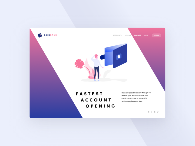 Beautiful Neobank Landing #03 | Banking Illustration ux design ui design web web page vector figma sketch desktop mobile freebie digital ui ux illustration banking finances dashboard landing website app