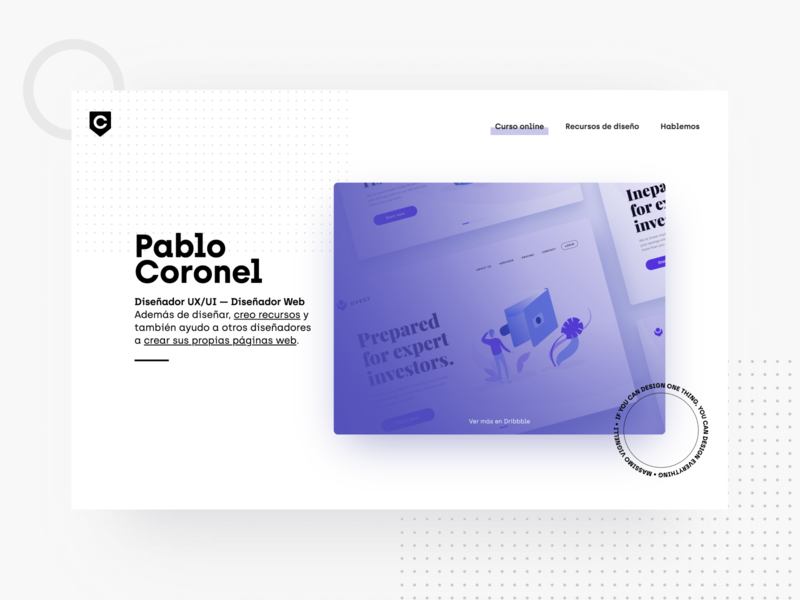 My personal website made in Webflow mobile desktop branding web illustration banking course webflow ui ux modern minimal landing website brand personal