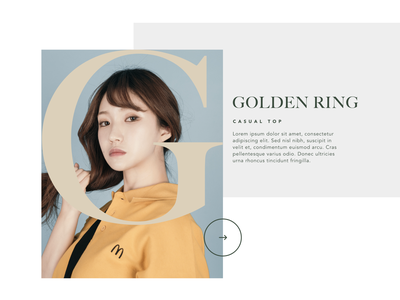 Fashion Project Experiment #01 web design sketch clothing girl concept experiment ui ux website grid branding ecommerce lookbook fashion