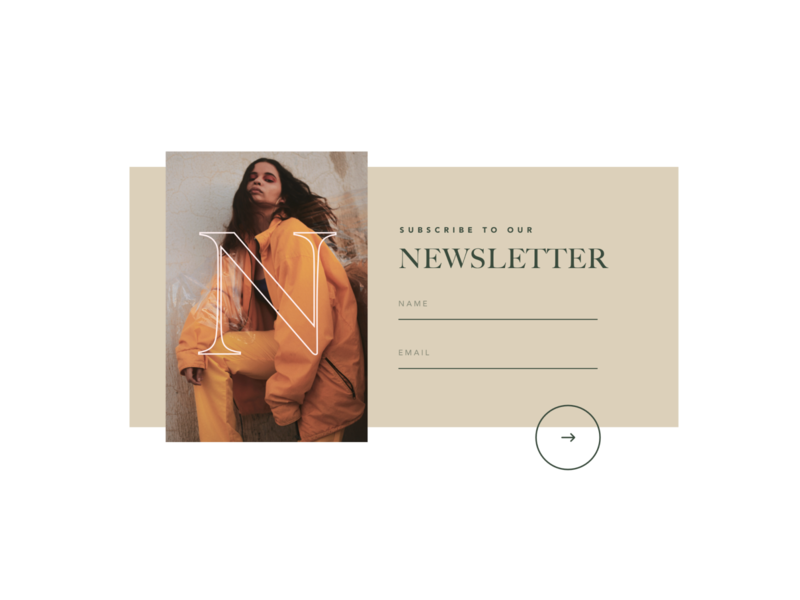 Fashion Project Experiment #03 newsletter web design sketch clothing girl concept experiment ui ux website grid branding ecommerce lookbook fashion