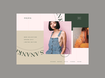 Fashion Project Experiment #04 web design sketch clothing girl concept experiment ui ux grid branding ecommerce lookbook fashion
