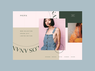 Fashion Project Animation muzli website web design ux ui after effects lookbook grid girl fashion experiment ecommerce concept clothing branding