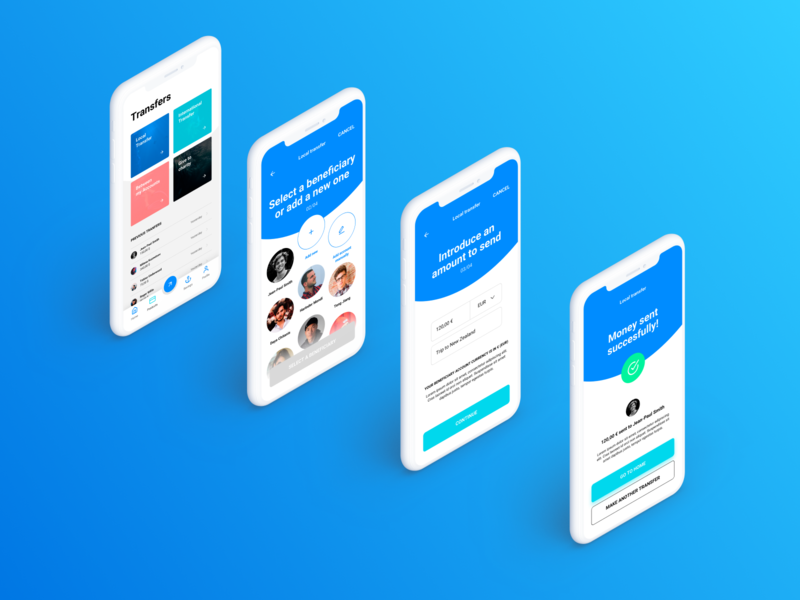Siren UI Kit – Modern Banking App #02 fintech cryptocurrency financial bank siren ui8 kit typography design mobile ux sketch dashboard ui app banking