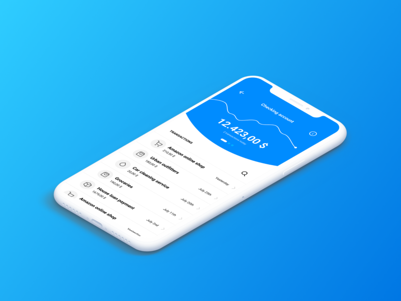 Siren UI Kit – Modern Banking App #03 fintech cryptocurrency financial bank siren ui8 kit typography design mobile ux sketch dashboard ui app banking